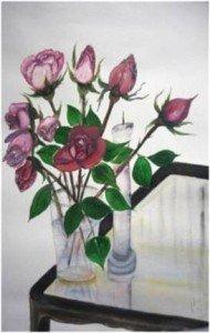 Roses. Aquarelle Annie Beghin