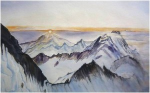 My water color of Alps