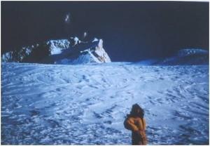 7Makalu Annie Beghin au col Makalu La 7400 m .9.1992